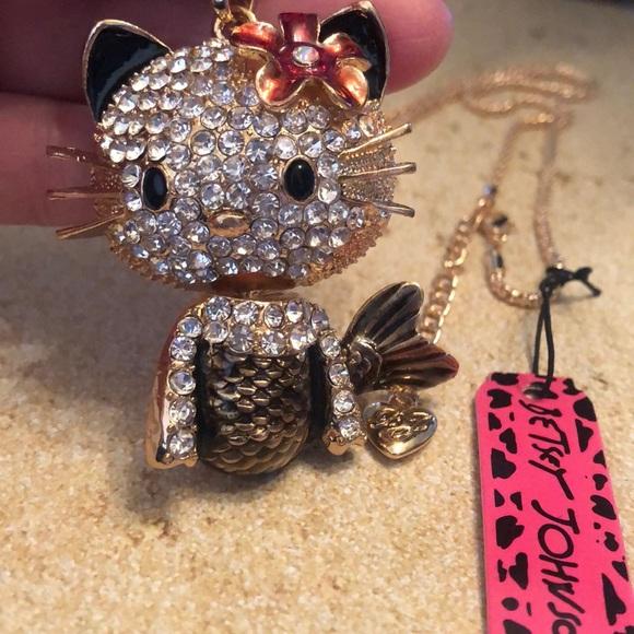 23d04afcf Betsey Johnson Jewelry | Hello Kitty Cat Beautiful Necklace | Poshmark